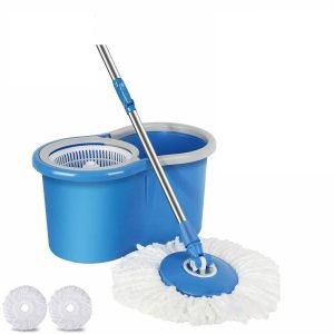 Holme's Mop with Bucket With 2 Mop Heads