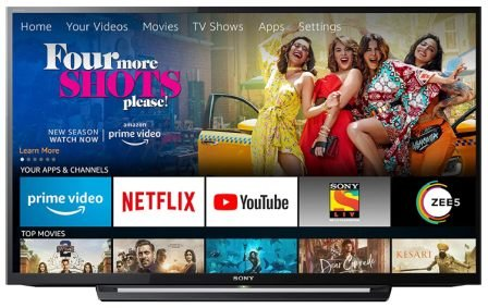 Sony Bravia 101.6 cm (40 inches) Full HD LED TV KLV-40R352F (Black) With Amazon Fire Stick