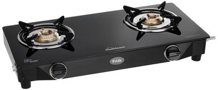 Sunflame GT Pride Glass Top 2 Burner Gas Stove